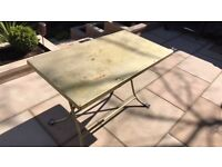 Vintage Metal fold away garden table (Painted gold)