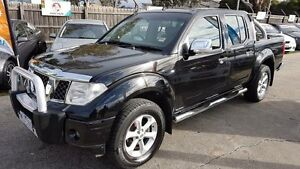 2008 Nissan Navara D40 Outlaw (4x4) Black 6 Speed Manual Dual Cab Pick-up Maidstone Maribyrnong Area Preview