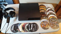 Ps3 console. controller, Gaming headset and 30 games
