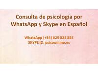 PSICOLOGÍA ON LINE EN ESPAÑOL. PSICOTERAPIA, CONSULTA