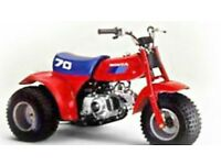 Honda Atc 70 WANTED! Cash paid. All conditions considered.