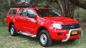 2013 Ford Ranger PX XL Double Cab Red 6 Speed Manual Utility Oaks Estate Queanbeyan Area Preview