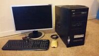 """Back to school: PC + 20"""" monitor"""