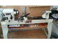 Hardly used Jet JWL-1442 Wood lathe and extra tools