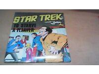 STAR TREK - TO STARVE A FLEAVER-7 INCH RECORD, STILL SEALED-33 1/3 RPM. 1975