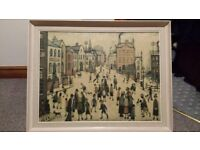 """L S Lowry framed copy of """"village square"""""""