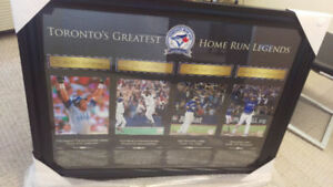 Blue Jays Authentic Legends framed with Blue Jays patch and HOFS