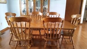 Table, chairs and hutch for sale