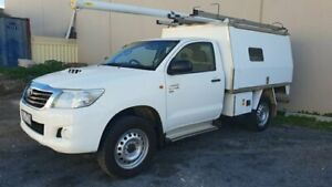 2014 Toyota Hilux KUN26R MY14 SR (4x4) White 5 Speed Manual Cab Chassis Melrose Park Mitcham Area Preview