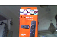 amazon firestick as new in box never used with remote control to watch films