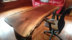 Beautiful Live Edge and Reclaimed Wood Desks, Tables, Beds