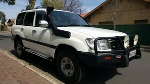 2003 Toyota Landcruiser HDJ100R GXL (4x4) White 5 Speed Manual Wagon Medindie Walkerville Area Preview