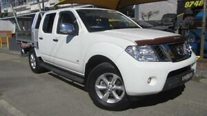 2011 Nissan Navara D40 ST-X 550 (4x4) White 7 Speed Automatic Dual Cab Utility Homebush Strathfield Area Preview