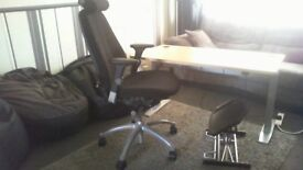Mobility Desk, Chair And Foot Stool