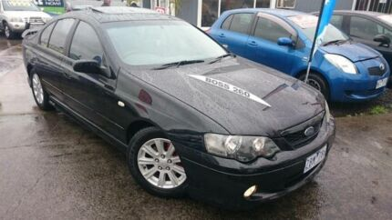 2004 Ford Falcon BA XR6 Black 4 Speed Auto Seq Sportshift Sedan Maidstone Maribyrnong Area Preview