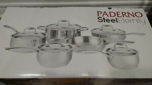Paderno Steel Eternity 11-Piece Cookware Set - Stainless Steel
