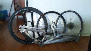 lots of high end mtb parts. frames, wheels, forks and more