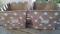 Pair of Decorative Shelf Storage Containers