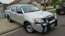 2008 Toyota Hilux GGN15R MY08 SR Silver 5 Speed Automatic Utility Yagoona Bankstown Area Preview