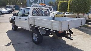2011 Ford Ranger PK XL Crew Cab White 5 Speed Manual Cab Chassis Acacia Ridge Brisbane South West Preview