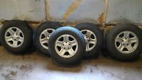 """Jeep 16"""" Rims and Tires"""