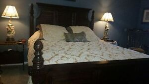Ashley furniture Queen size Bed-Solid wood-LIKE NEW!!