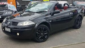 2005 Renault Megane Expression Black 4 Speed Automatic Cabriolet Maidstone Maribyrnong Area Preview