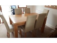 Next Dining Table plus 6 chairs