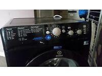 BLACK INDESIT WASHING MACHINE 7KG 1400RPM NEW CONDITION