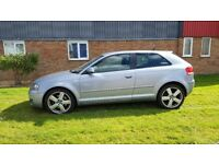 AUDI A3 2.0 TFSI S-LINE DSG 2005 AUTO PADDLE SHIFT FULLY LOADED NEW MOT SAT NAV LEATHER DRIVES GREAT