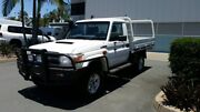 2013 Toyota Landcruiser VDJ79R MY13 GXL French Vanilla 5 Speed Manual Cab Chassis Acacia Ridge Brisbane South West Preview