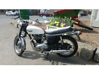 Triumph Bonneville T120R 1965 to be sold with service and MOT plus spare tank