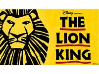 LION KING LONDON THEATRE TRIP (BUS AND STALL TICKETS)