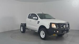 2014 Ford Ranger PX XLT 3.2 (4x4) Cool White 6 Speed Automatic Super Cab Utility Perth Airport Belmont Area Preview