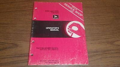 John Deere 2350 2550 Tractor Operator Manual B113