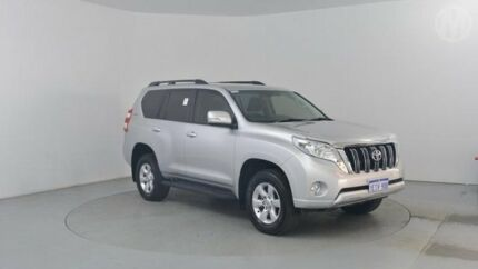 2013 Toyota Landcruiser Prado GRJ150R 11 Upgrade GXL (4x4) Silver Pearl 5 Speed Sequential Auto Wago Perth Airport Belmont Area Preview