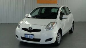 2010 Toyota Yaris NCP90R MY10 YR White 5 Speed Manual Hatchback Rockingham Rockingham Area Preview
