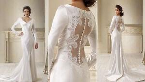 Bella wedding dress ebay splendid twilight bella long sleeves wedding dress bridal gown sizecustom junglespirit Gallery