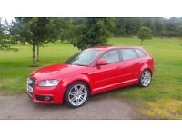 AUDI A3 2.0 TDI S LINE FREE MOT FOR LIFE!! (red) 2008