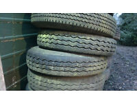 American RV tyres and/or wheels. Most are Michelins 8R x 19.5