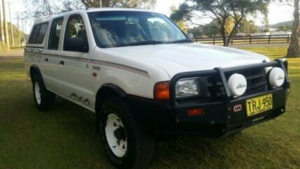 1999 Ford Courier PE GL (4x4) White 5 Speed Manual 4x4 Crewcab Mardi Wyong Area Preview