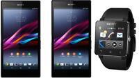 unlocked Sony Xperia z waterproof phone with Sony SmartWatch 2
