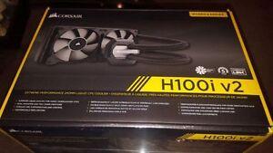 Corsair H100i V2 Liquid Cooler 240MM, AMD/Intel Compatible