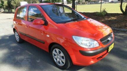 2010 Hyundai Getz TB MY09 SX Red 4 Speed Automatic Hatchback Granville Parramatta Area Preview