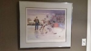 Limited Edition Wayne Gretzky Lithograph Print Signed