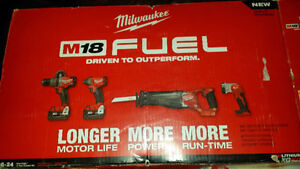 Brand new Milwaukee M18 FUEL BRUSHLESS 4 pcs Combo