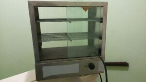 Pastry Display Case, Freezer and Patty Warmer for sale