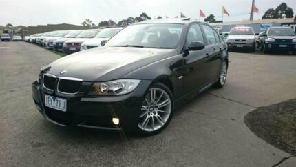 2007 BMW 320i E90 07 Upgrade Executive Black 6 Speed Steptronic Sedan Maidstone Maribyrnong Area Preview