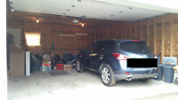Centrally-located, Oversized Double Car Garage for Rent