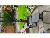Bowflex power pro training system. stores away easily,very effective, works every muscle £45